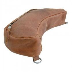 Pool's Equitazione Bisaccia posteriore in cuoio grasso con chiusura zip