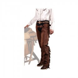 Lakota Saddlery Chaps Western in pelle invecchiata mod. PULL UP PRO