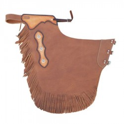 Lakota Saddlery Chaps Western in pelle liscia mod. RODEO PULL UP