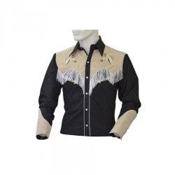 Lobo riders's Camicia western con frange e ricami