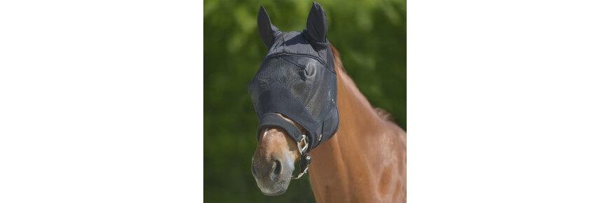 Cuffie Cuffiette per Cavalli Maschera Antimosche