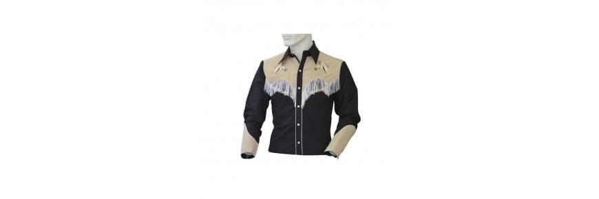 Camicie Western Online con Frange a Quadretti e Jeans