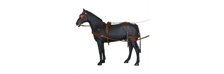 Finimenti per Cavalli da Trotto Carrozza Singoli e Doppi